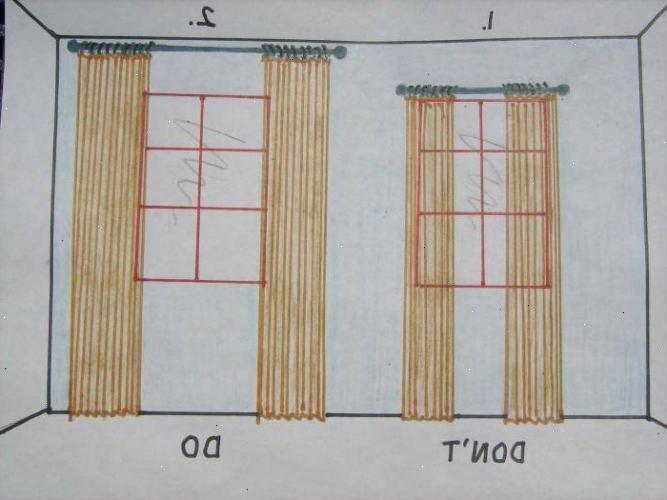 Hvordan henge opp gardiner med ringer