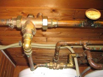 varme vann med gass